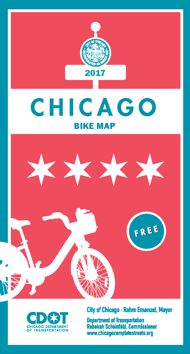 2017 Chicago Bike Map Now Available Chicago Complete Streets