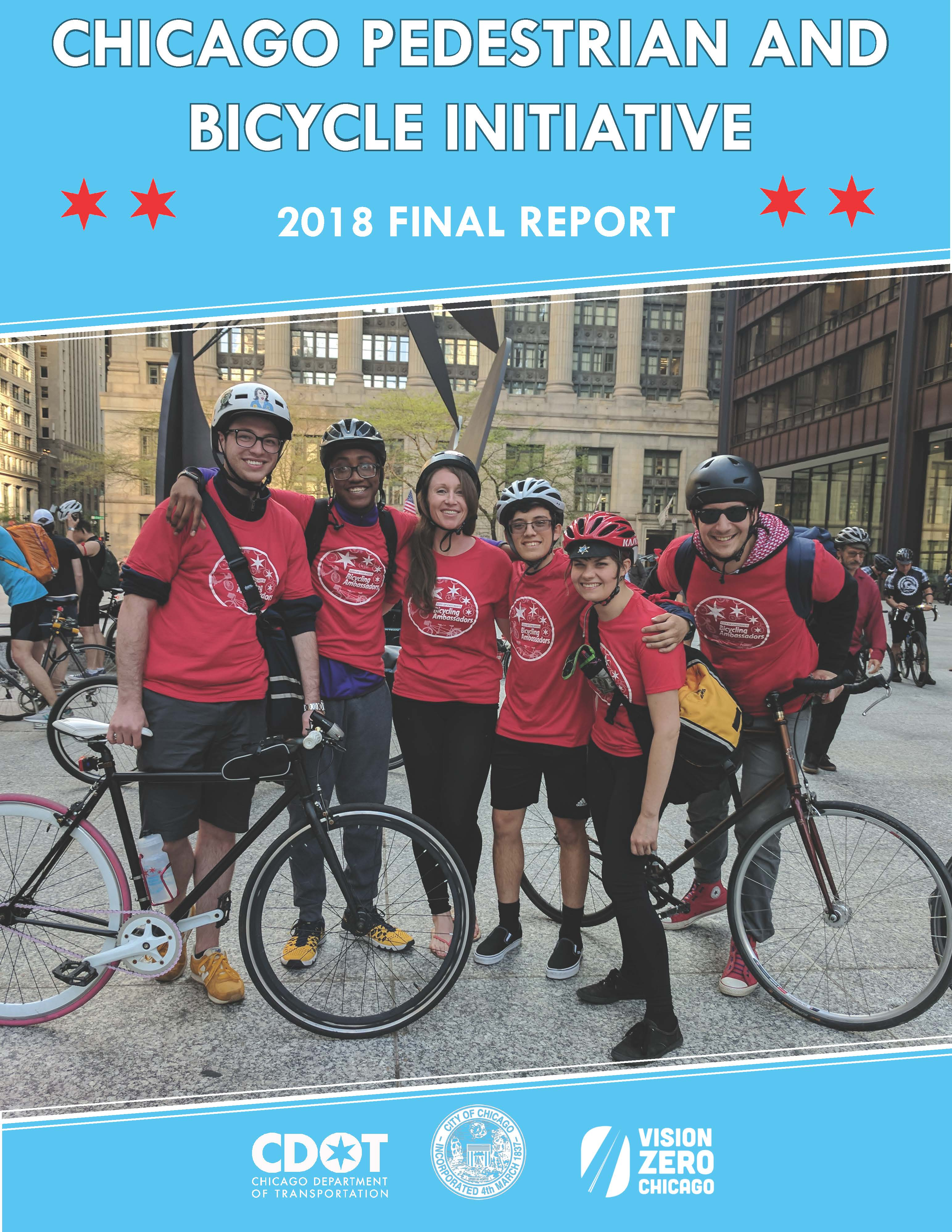 Cover of 2018 Bike/Ped report